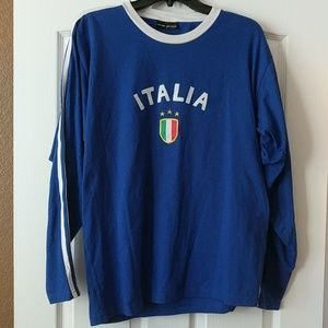 Men's long sleeve Italia shirt size L